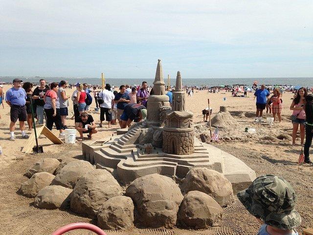 Castillos de arena en Coney Island