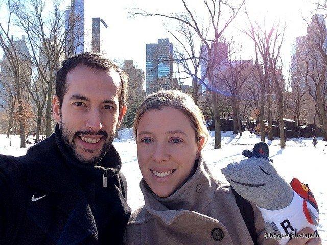 Pedro y Abby en Central Park