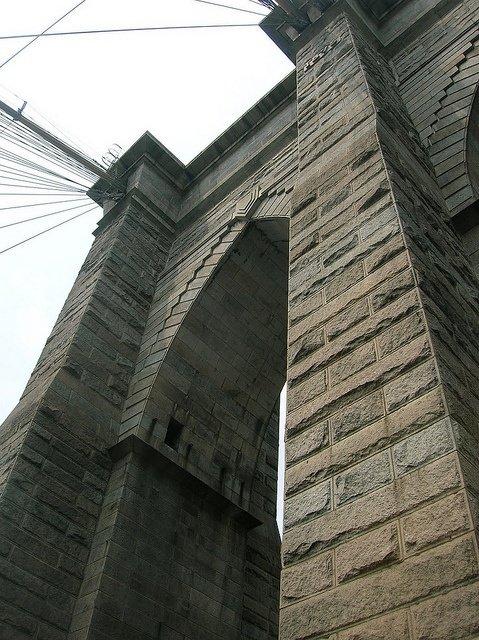 Puente de Brooklyn desde abajo