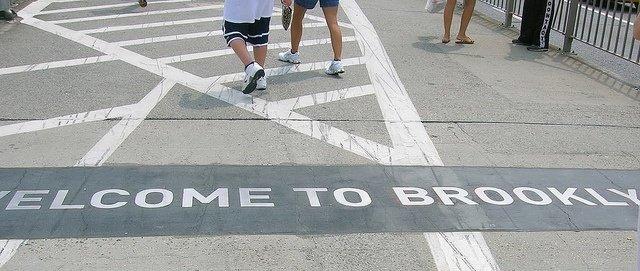 Puente de Brooklyn durante la Marathon de Nueva York