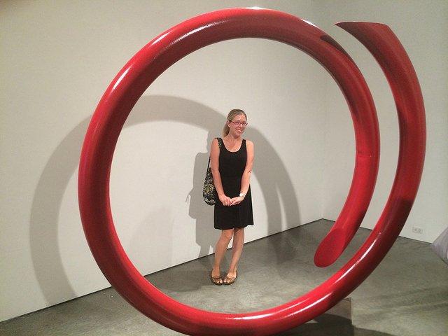 Abby en las Galerías de Chelsea