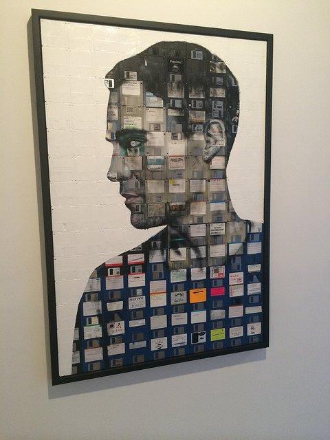 Arte con diskettes en Chelsea