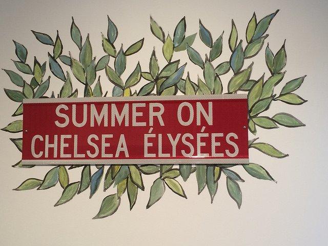 Cartel en una de las galerías de Chelsea Nueva York
