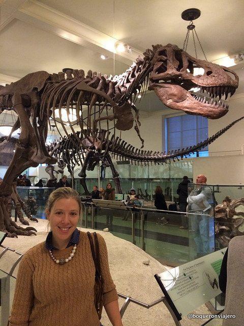 Dinosaurios en el Museo Americano de Historia Natural de Nueva York