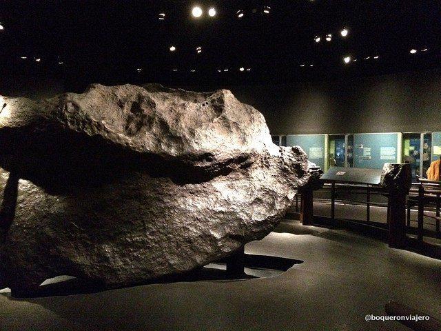 Meteorito en el Museo Americano de Historia Natural de Nueva York