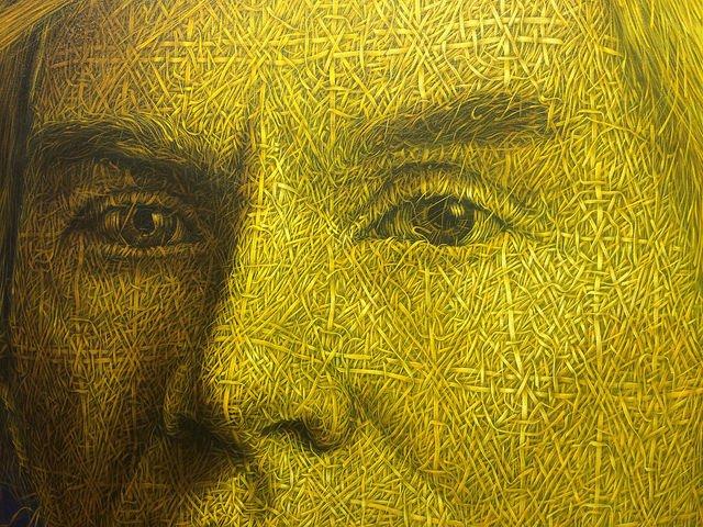 Obra en una de las galería de arte en Chelsea