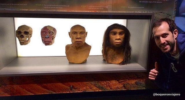 Pedro en el Museo Americano de Historia Natural de Nueva York