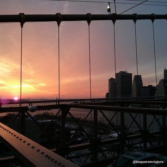 Atardecer desde el Puente de Brooklyn
