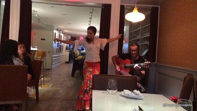 Flamenco en el Restaurante Andanada Nueva York