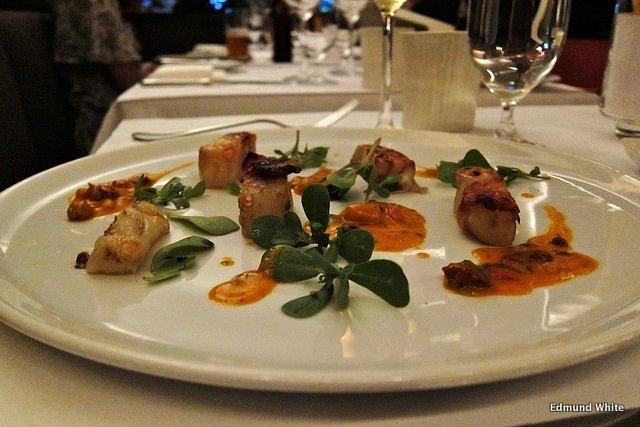 Plato en el Restaurante Blue Hill Nueva York
