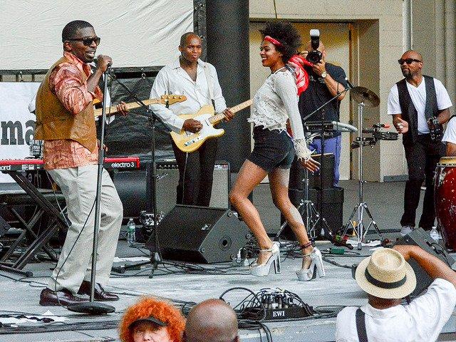 Summer stage en Marcus Garvey Park Harlem