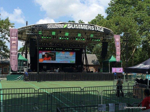 SummerStage Nueva York Escenario de Central Park