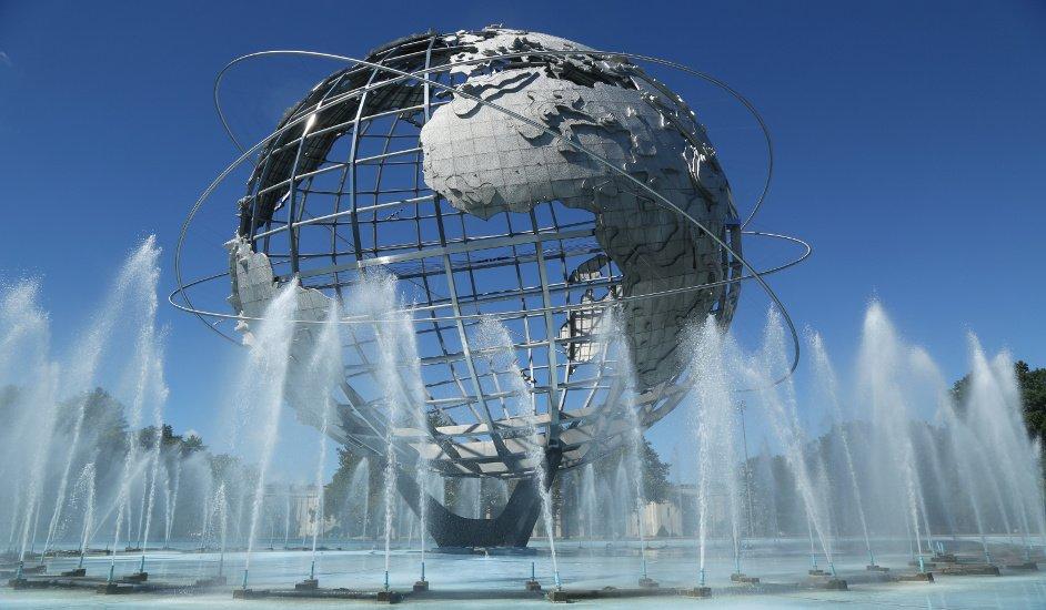 Visitando la Unisfera en Queens, Nueva York