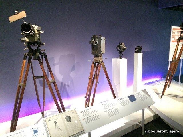 Cámaras de rodaje en el Museo de la Imagen en Movimiento de Queens