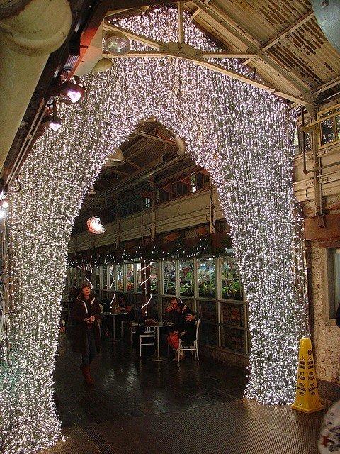 Chelsea Market durante Navidad