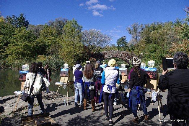 Clase de arte en Central Park