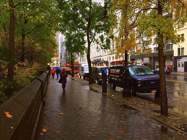 Día lluvioso en Nueva York