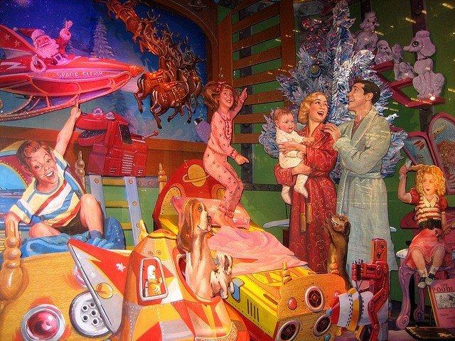 Escaparate de Bloomingdales durante Navidad