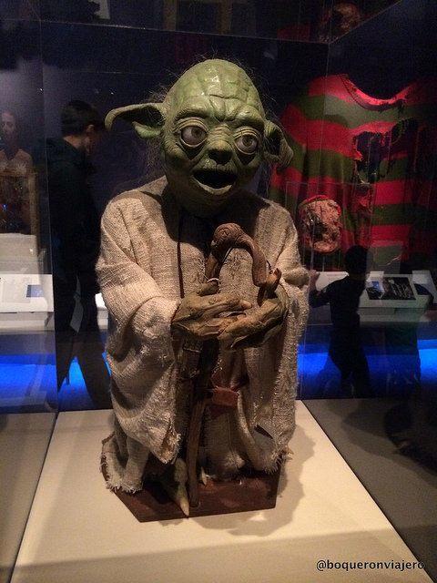 Figura de Yoda en el Museo de la Imagen en Movimiento de Queens