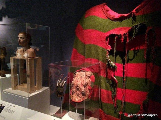 Freddy Krugger en el Museo de la Imagen en Movimiento de Queens