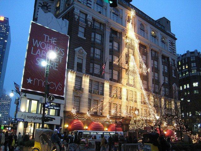 Macy's durante la Navidad en Nueva York