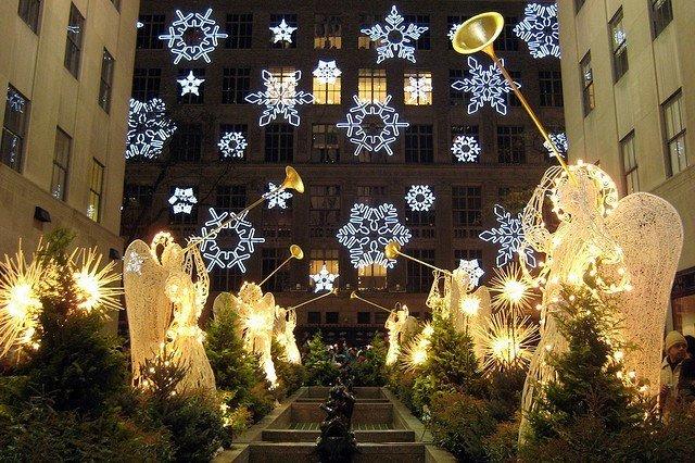 Quinta Avenida en Navidad
