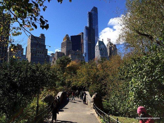 Rascacielos vistos desde Central Park