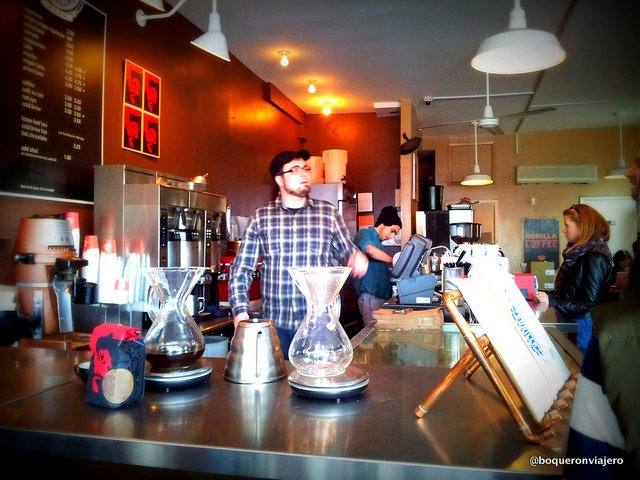 Baristas de Gorilla Coffee en Brooklyn