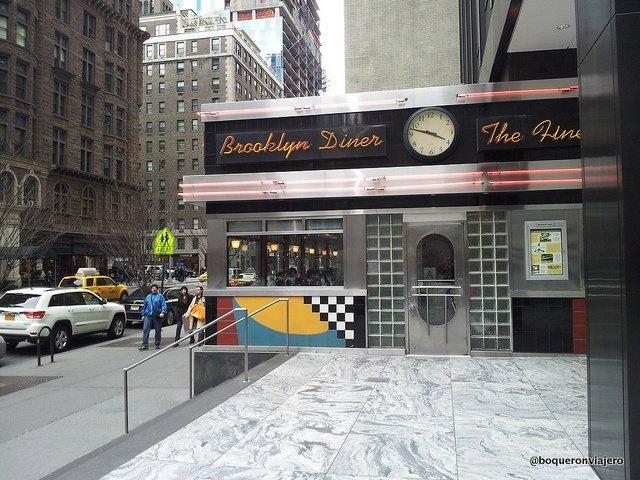 Exterior Brooklyn Diner Central Park