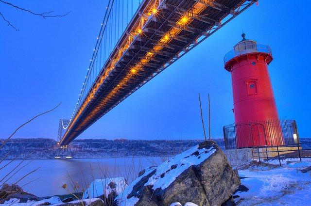 Jeffrey's Hook Light en Nueva York