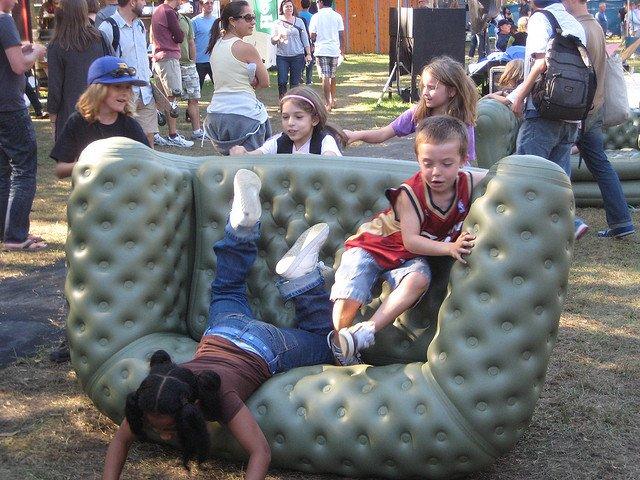 Niños jugando en Governors Island