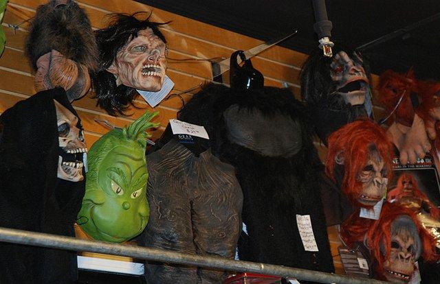 Tienda de disfraces para Halloween en Nueva York
