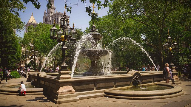 City Hall Park en Nueva York