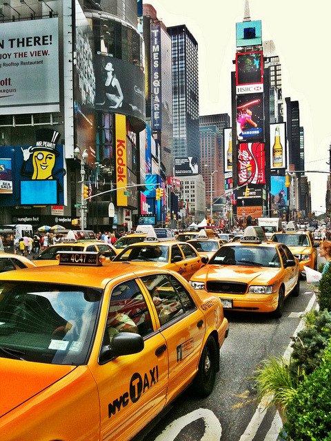 Moverse en taxi por Nueva York
