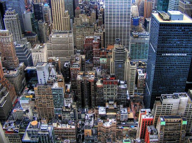 Skyline del Distrito Financiero de Nueva York