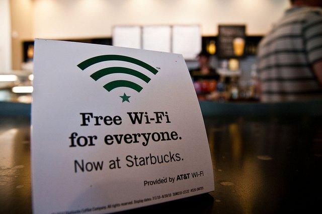 WiFi gratis en Starbucks