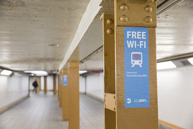 Wifi en el metro de Nueva York