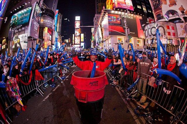 Celebrando el año nuevo en Times Square