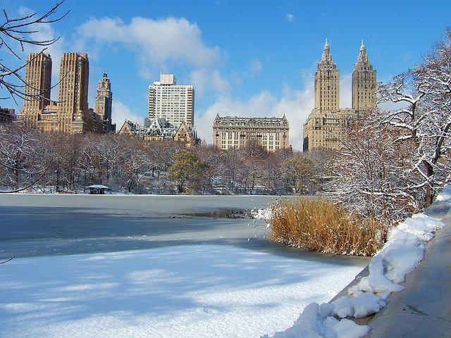 Central Park nevado