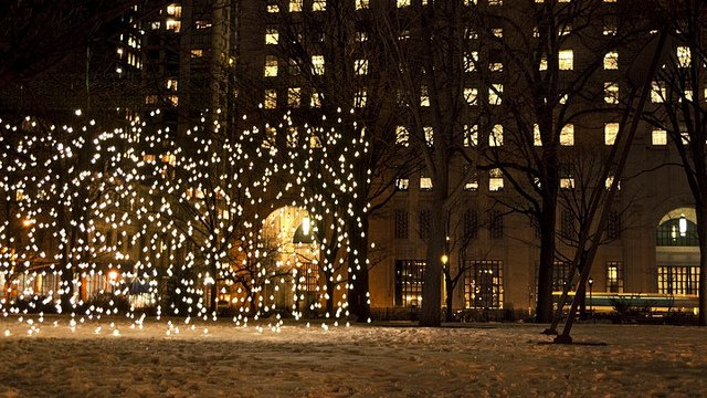 Madison Square Park en Navidad