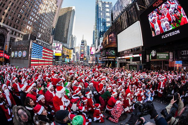 SantaCon en Nueva York