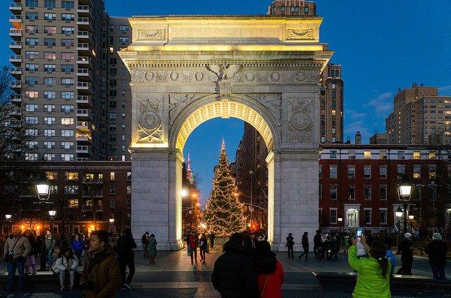 Washington Square Park en Navidad