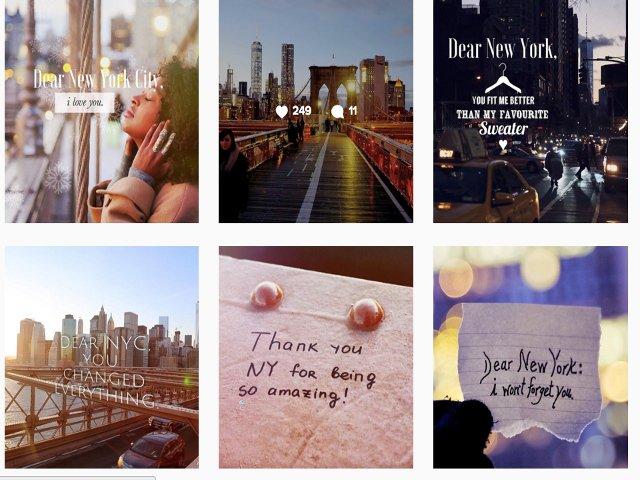 @letterstonyc Otra cuenta de Instagram sobre NYC