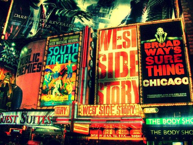 Un show de Broadway es una muy buena opción para un día de nieve en Nueva York.
