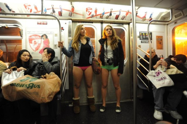No Pants Day en Nueva York
