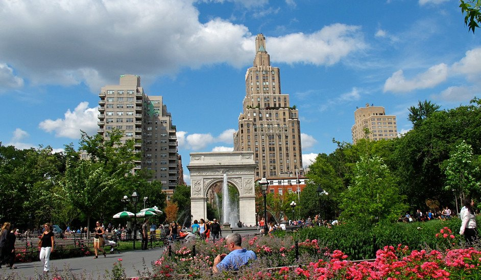 Washington Square Park en Greenwich Village, Nueva York