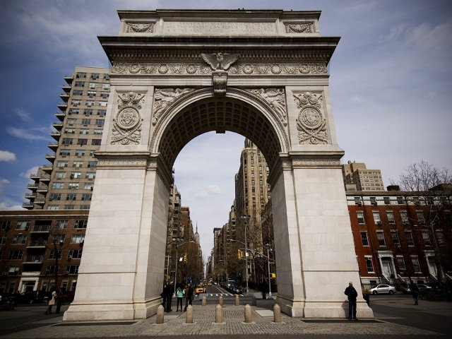 Arco de Washington Square Park en West Village, Nueva York