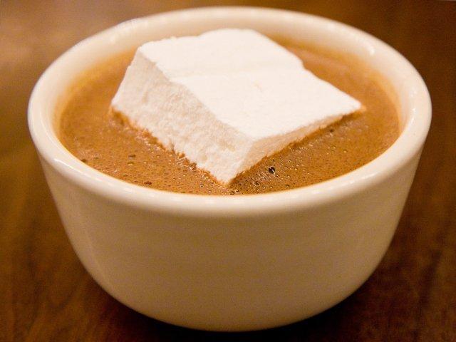 El chocolate caliente delicioso del City Bakery. Un capricho para un dia en Nueva York en la nieve
