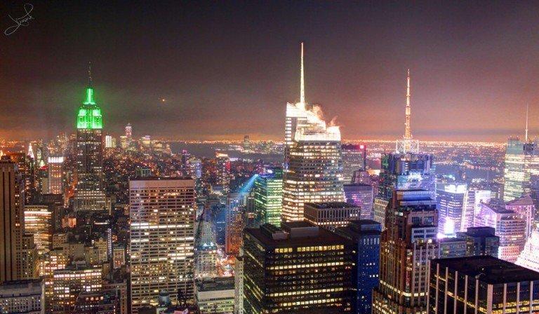 El Empire State luce verde en Nueva York en marzo por el día de San Patricio