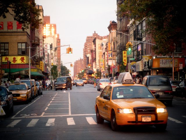 Grand Street en Little Italy, Nueva York